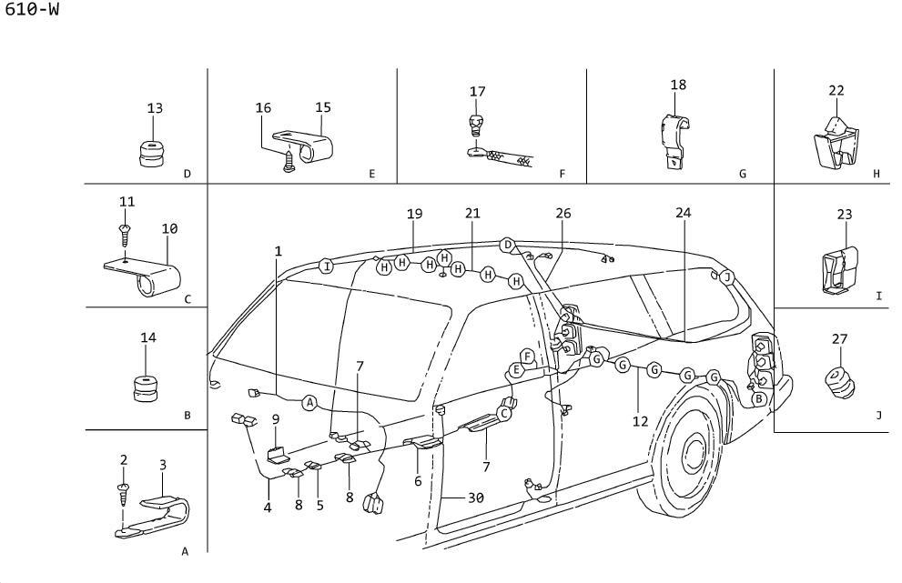 Nissan Maxima Clip  Nozzle Center Ventil Ator  Screw