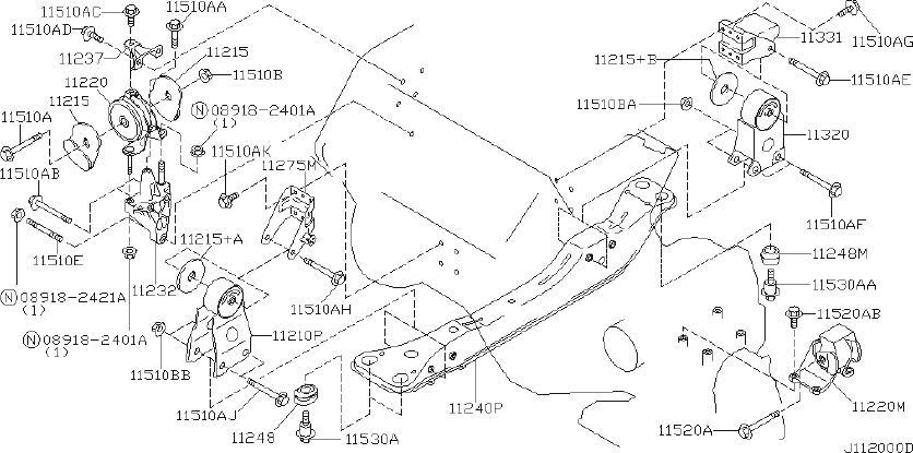 Nissan Maxima Manual Transmission Mount (Left, Front ...