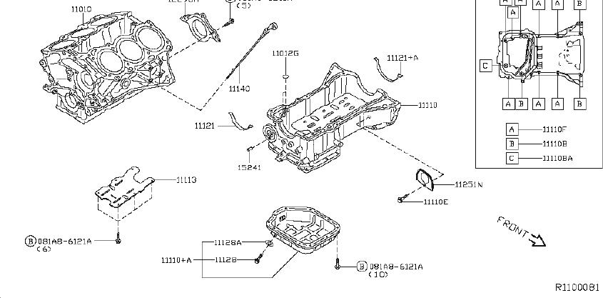 Nissan Sentra Cylinder Block  Assembly  Component