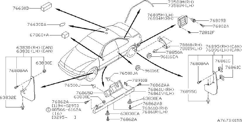 Nissan Sentra Rocker Panel Molding Clip  Side  Spoiler