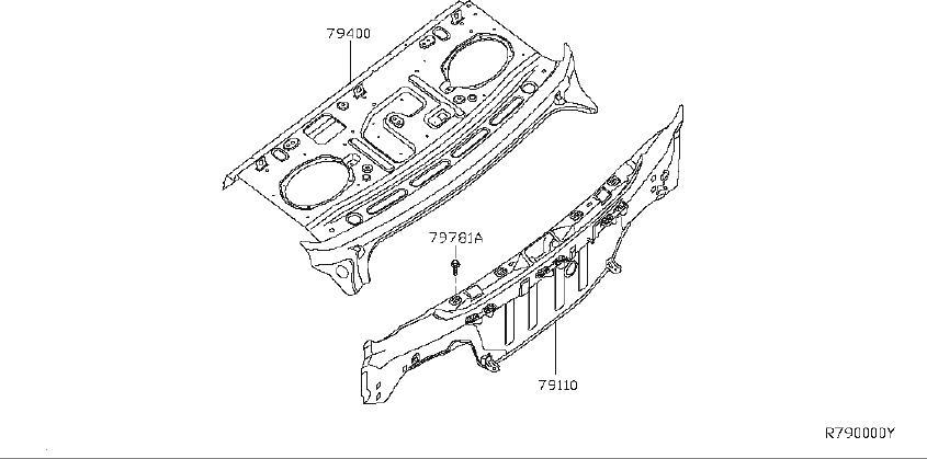 Nissan Sentra Rear Body Panel  Rear  Upper   Fitting
