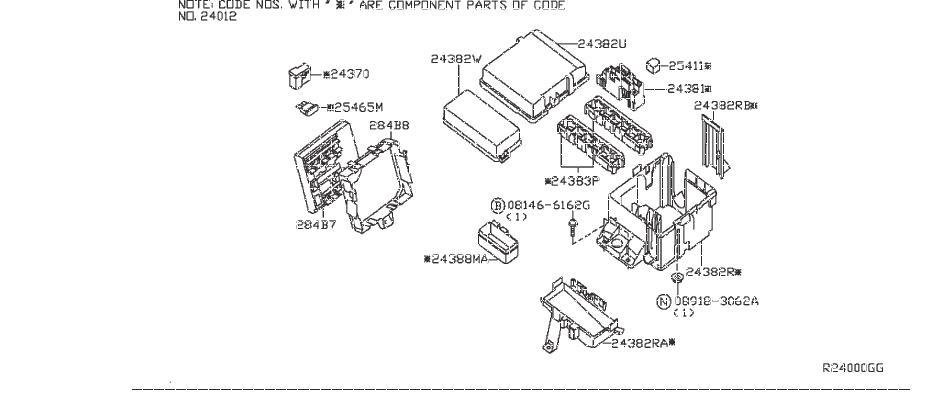 nissan titan controller unit ipdm engine room  service