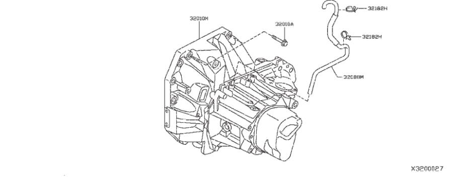 Nissan Versa Note Hose Breather  Transmission  Manual