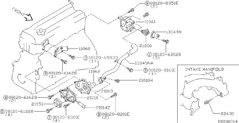 Nissan Altima Housing Thermostat  Cooling