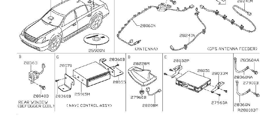 Nissan Altima Radio Control Unit  Antenna  Cockpit