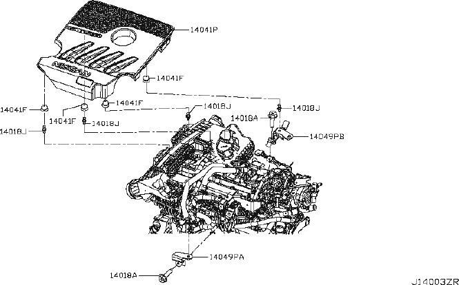 Nissan X-trail Stud  Engine  Cover  Intake