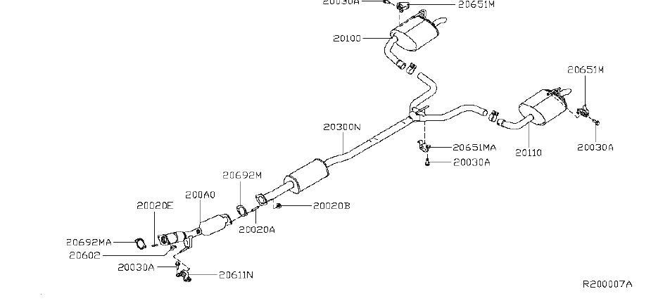 Nissan Altima Muffler Exhaust  Main  Fwd  Reghb