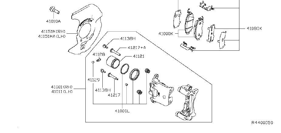 Nissan Altima Disc Brake Caliper Pin