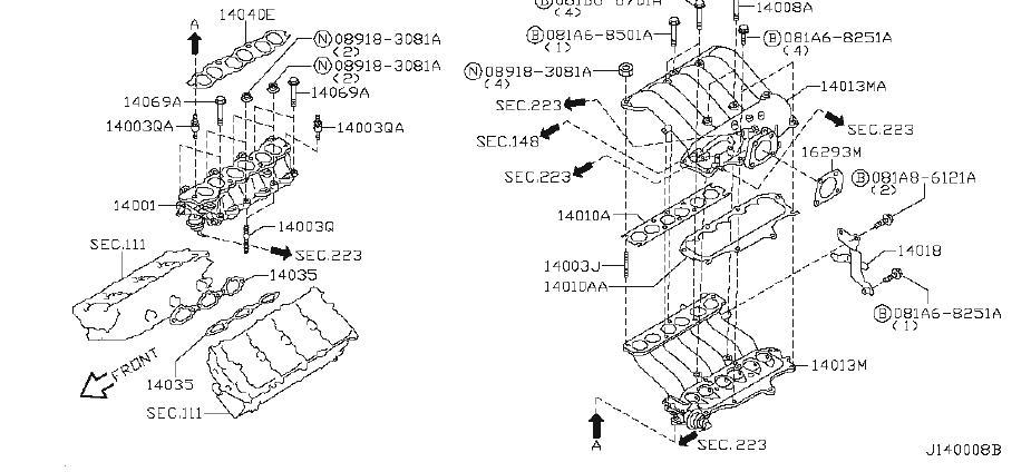 Nissan Pathfinder Exhaust Manifold Heat Shield  Engine