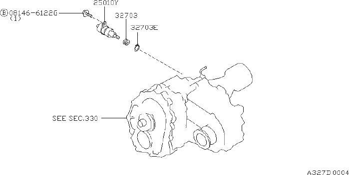 Datsun Pickup Pinion Speedometer  Fitting  Transmission
