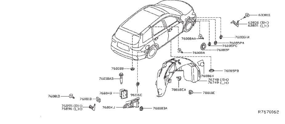 Nissan Pathfinder Mud Guard  Left  Rear   Dealer  Option