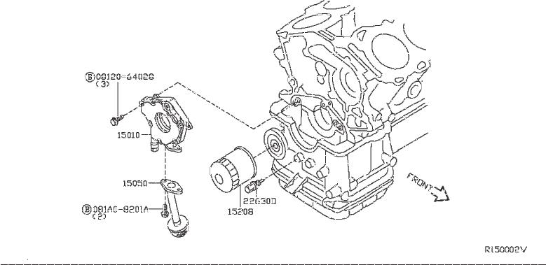 Nissan Pathfinder Bracket Oil Pump Solenoid  Lubrication