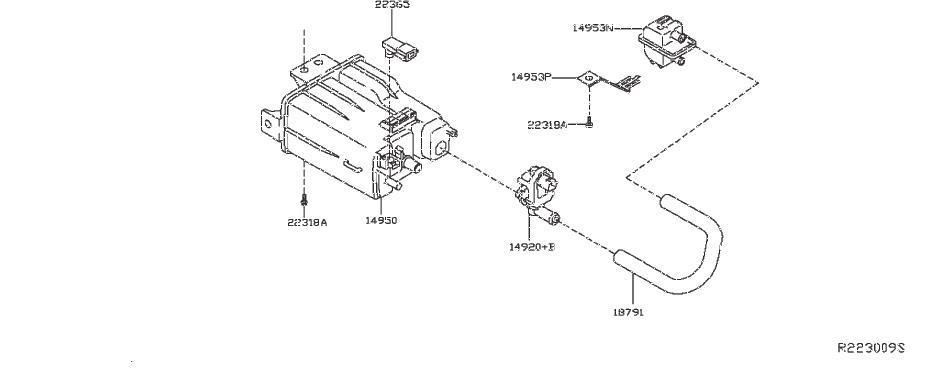 Nissan Pathfinder Evaporative Emissions System Lines