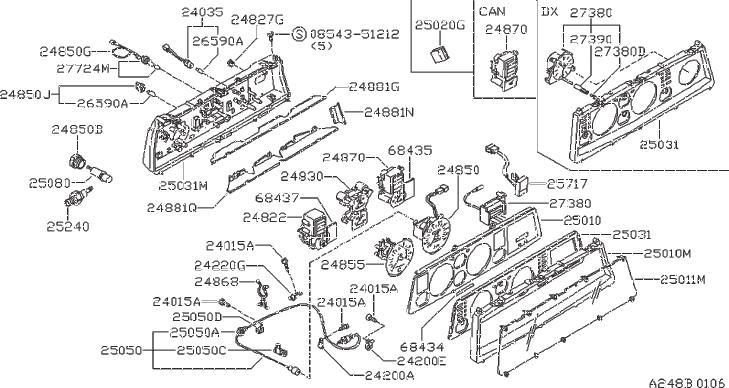 Datsun A10 Bolt  Clip  Transmission   Screw Hex  Head