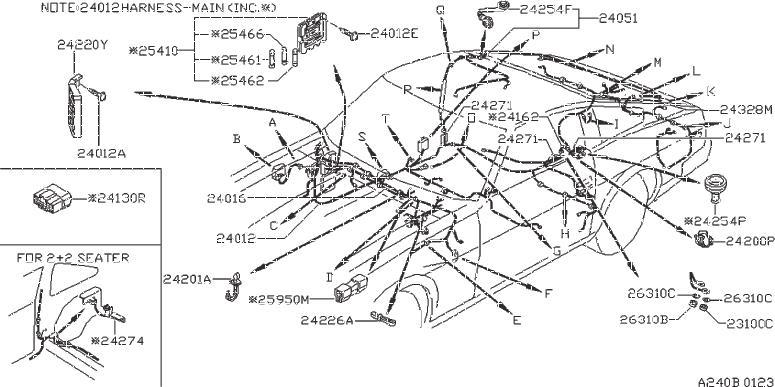 Datsun 280z Grommet  Harness Dash  Harness Sub  Fuel Pum