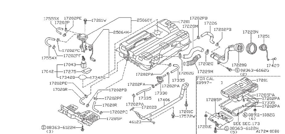 Nissan Quest Fuel Tank Cap Pin  System