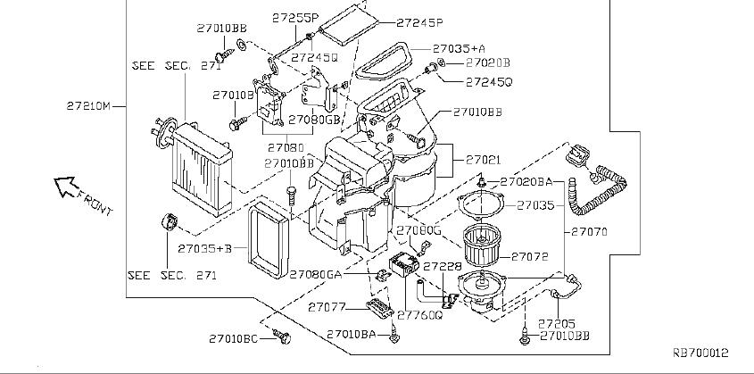 Nissan Quest Hvac Blower Motor Resistor  Cooler  Series