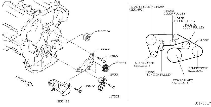 Nissan 370Z Serpentine Belt - 11720-EY00B | NISSAN, VAN ...