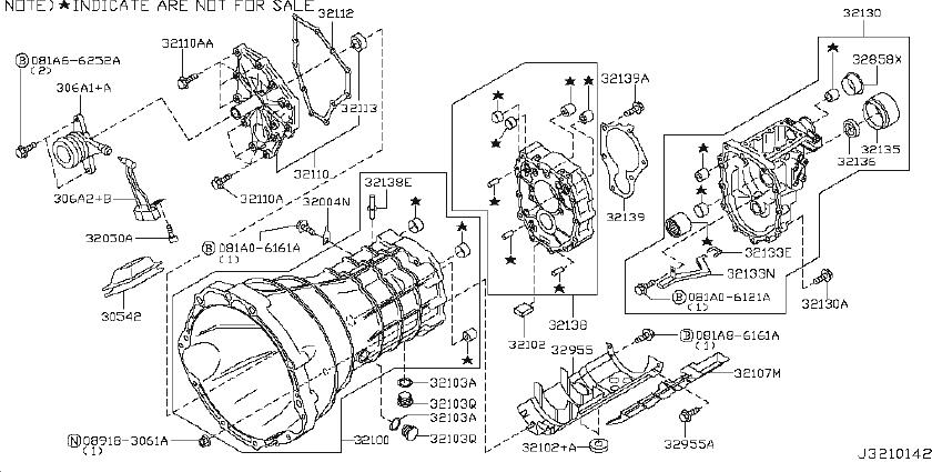 Nissan Frontier Manual Transmission Input Shaft Seal